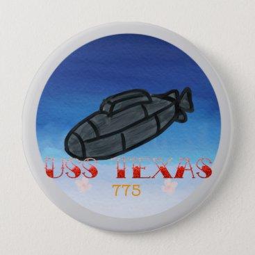 USS Texas submarine navy pin