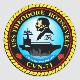 USS Theodore Roosevelt CVN-71 Classic Round Sticker