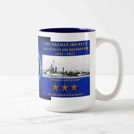 USS Tillman (DD-641) Mugs