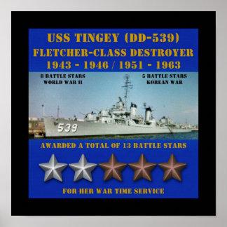 USS Tingey (DD-539) Impresiones
