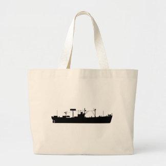 USS Tracer Silhouette AGR-15 Jumbo Tote Bag