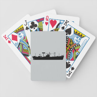 USS Tracer Silhouette AGR-15 Bicycle Playing Cards