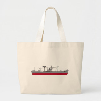 USS Tracer Silhouette AGR-15 Color Jumbo Tote Bag