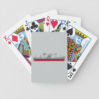 USS Tracer Silhouette AGR-15 Color Bicycle Playing Cards
