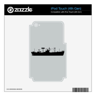 USS Tracer Silhouette AGR-15 Decals For iPod Touch 4G
