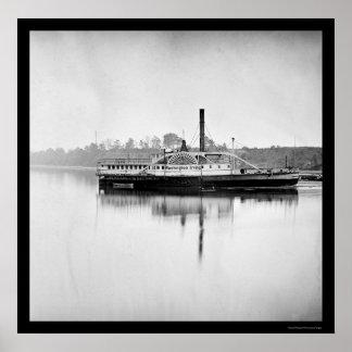 USS Transport Washington Irving 1865 Poster