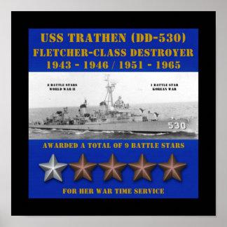 USS Trathen (DD-530) Poster