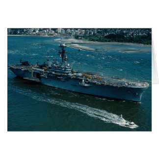 """USS Tripoli"""", LPH 10 Helicopter assault ship Greeting Card"""