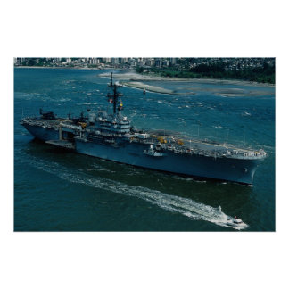"""USS Tripoli"""", LPH 10 Helicopter assault ship Print"""