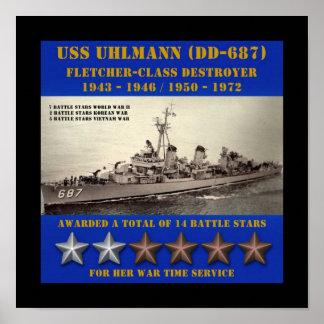 USS Uhlmann (DD-687) Impresiones