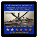 USS Uhlmann (DD-687) Relojes De Pared