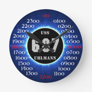 USS Uhlmann (DD-687) Round Clock