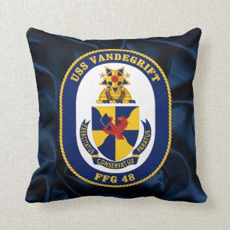 USS Vandergrift Throw Pillow