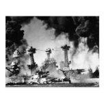 USS Virginia Occidental en el Pearl Harbor Tarjetas Postales