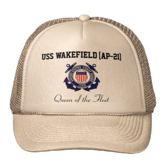 "USS WAKEFIELD (AP-21) ""reina camionero de la flota Gorras"