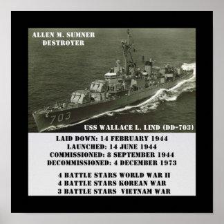 USS Wallace L. Lind (DD-703) Impresiones