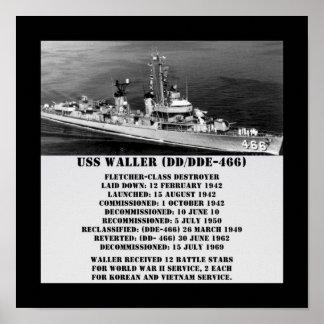 USS Waller (DD/DDE-466) Print