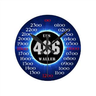 USS Waller (DD/DDE-466) Round Clock