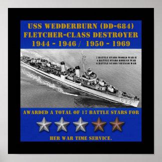 USS Wedderburn (DD-684) Posters