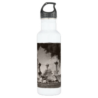 USS West Virginia at Pearl Harbor Stainless Steel Water Bottle