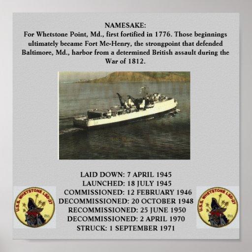 USS WHETSTONE (LSD-27) POSTER