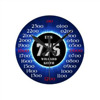 USS Willard Keith (DD-775) Round Clock