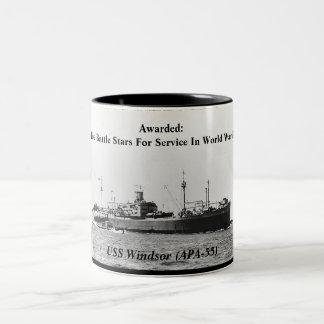 USS Windsor APA-55 Mugs