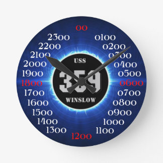 USS WINSLOW (DD-359) ROUND CLOCK