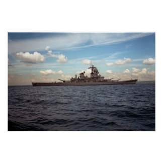 USS Wisconsin (BB-64) Poster