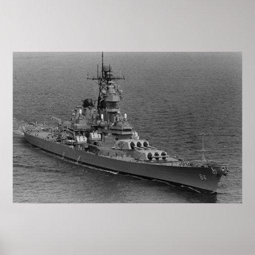 USS Wisconsin (BB-64) Print