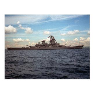 USS Wisconsin (BB-64) Tarjeta Postal