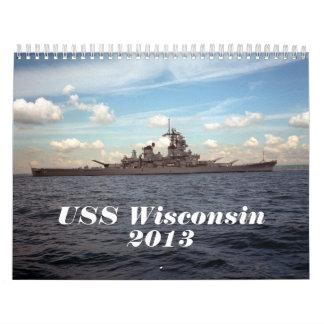 USS Wisconsin Calendar - 2013