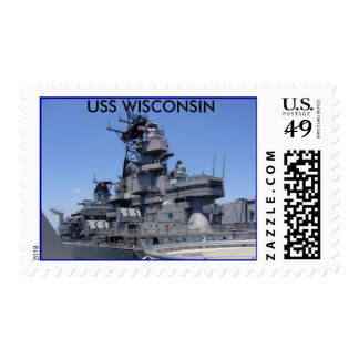USS WISCONSIN STAMPS