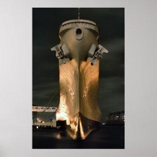 USS Wisconsin Poster