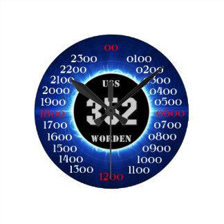 USS Worden (DD-352) Round Clock