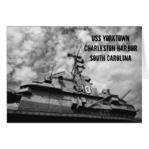battleships, ships, uss yorktown, south carolina, places, travel, harbor, military, retired war ships, photography, ginette, Card with custom graphic design