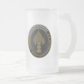 USSOCOM Emblem Frosted Glass Beer Mug