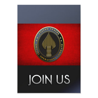 USSOCOM Emblem Personalized Invites