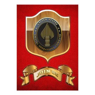 USSOCOM Emblem Personalized Invitation