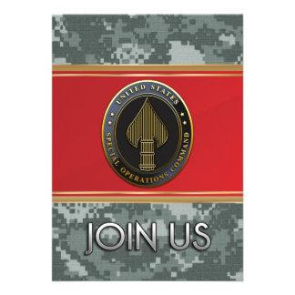 USSOCOM Emblem Personalized Announcements