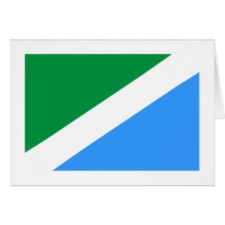 Ussolie-Sibirskoye(Irkutsk Oblast), Russia flag Greeting Cards