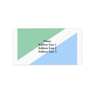 Ussolie-Sibirskoye(Irkutsk Oblast), Russia flag Personalized Address Labels