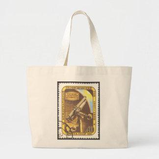 USSR 1957 Jumbo Tote Astronomy Stamp Art Canvas Bag