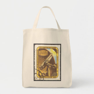 USSR 1957 Organic Grocery Tote Astronomy Stamp Art Bag