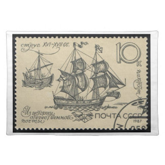 USSR Boat 17-18c Packet Ship ~ Placemat