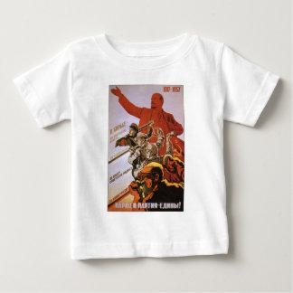 USSR CCCP Cold War Soviet Union Propaganda Posters Baby T-Shirt