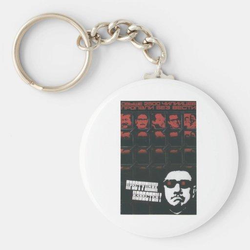 USSR CCCP Cold War Soviet Union Propaganda Posters Basic Round Button Keychain