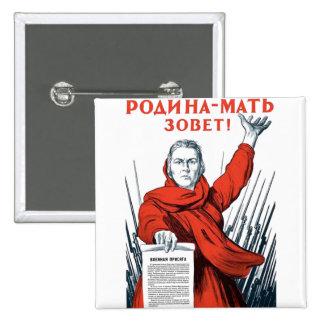 USSR CCCP Cold War Soviet Union Propaganda Posters Button