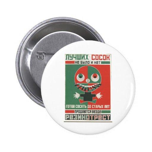 USSR CCCP Cold War Soviet Union Propaganda Posters 2 Inch Round Button