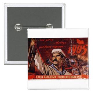 USSR CCCP Cold War Soviet Union Propaganda Posters 2 Inch Square Button
